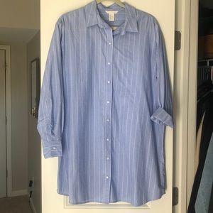 H&M Oversized Button-Up Shirt Dress